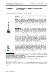 Versuch B6: Umkristallisation im Makromaßstab