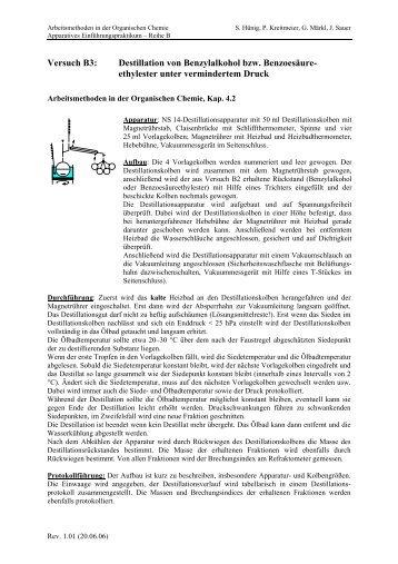 Destillation im Vakuum (pdf)