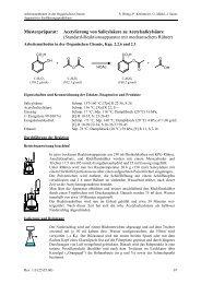 Acetylierung von Salicylsäure zu Acetylsalicylsäure