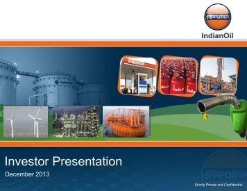 Investor Presentation - Indian Oil Corporation Limited