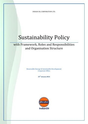 Sustainability Policy - Indian Oil Corporation Limited