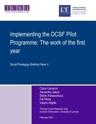 Implementing the DSCF Pilot Programme - Institute of Education ...