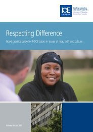 Respecting Difference - Institute of Education, University of London