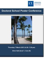 Poster Conference Booklet 2013 - Institute of Education, University ...