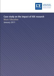 Case study on the impact of IOE research Music Education