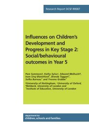 Influences on Children's Development and Progress in Key Stage 2 ...