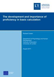 The development and importance of proficiency in basic calculation