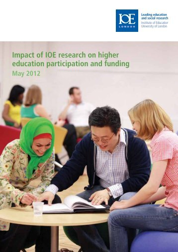 Impact of IOE research on higher education participation and funding