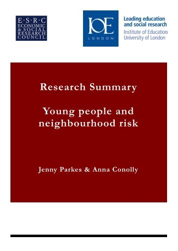 Research Summary - Institute of Education, University of London