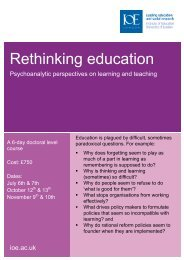 Rethinking Education flier - Institute of Education, University of London