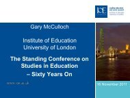 Gary McCulloch - Institute of Education, University of London
