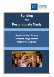 Funding for Postgraduate Study: Graduate Certificates, Masters ...