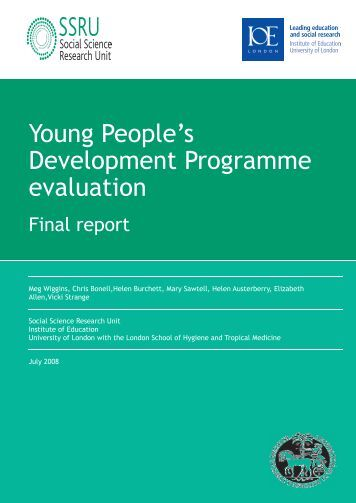 Young People's Development Programme Evaluation - Institute of ...