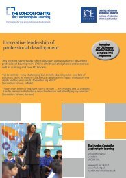 Innovative leadership of professional development - Institute of ...