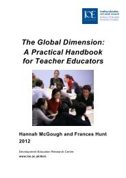 The Global Dimension: A Practical Handbook for Teacher Educators