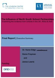 Executive Summary (pdf) - Institute of Education, University of London