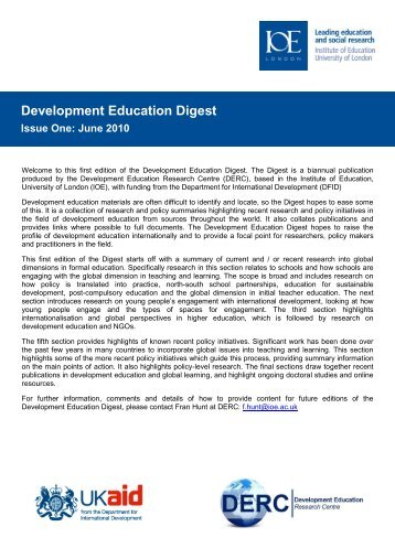 Development Education Digest attached - Council of Europe
