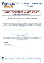 HOTEL CONCHIGLIA AZZURRA**** - Ionian Travel