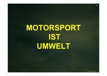 MOTORSPORT IST UMWELT 1 - DMSB