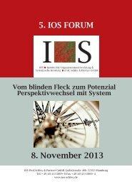 8. November 2013 5. IOS FORUM - IOS Schley