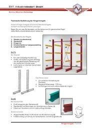Kragarmregale - Technik Technische ... - CVT Industriebedarf GmbH