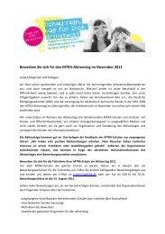 Bewerben Sie sich für den Mtra-Aktionstag im November 2011