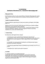 """Lernzielkatalog Zertifizierter Refresherkurs für """"Fachkraft für - VMTB"""