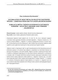 dolny bug i zbiorniki jego terenów zalewowych - Instytut Ochrony ...