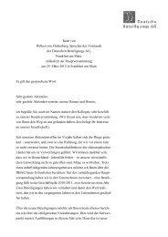 Rede von Wilken von Hodenberg, Sprecher des Vorstands der ...