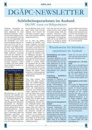 News - Deutsche Gesellschaft für Ästhetisch Plastische Chirurgie
