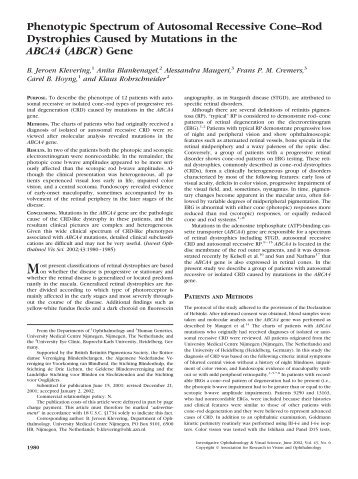 Mutations in B3-Crystallin Associated with Autosomal ...