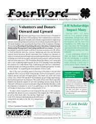 Volunteers and Donors Onward and Upward A Look - Iowa 4-H ...