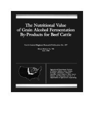 The nutritional value of grain alcohol - Iowa Beef Center