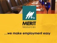 Merit Resources - We Make Employment Easy - Iowa Beef Center