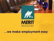 Merit Resources - We Make Employment Easy - Iowa Beef Center
