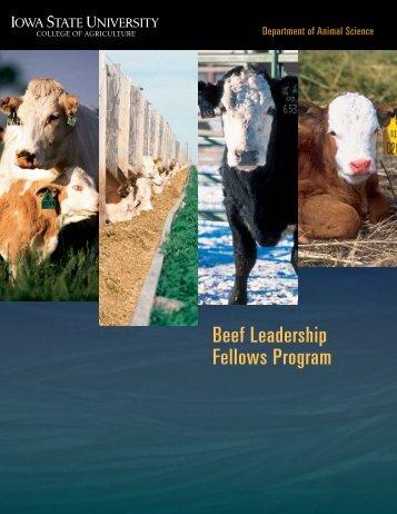 Beef Leadership Fellows Program brochure - Iowa Beef Center