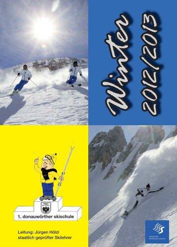 Das aktuelle Programm zum Download - 1. Donauwörther Skischule