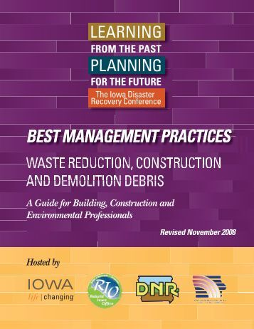Waste Reduction, Construction and Demolition Debris - Iowa ...