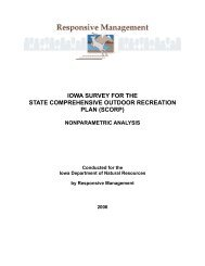 iowa survey for the state comprehensive outdoor recreation plan