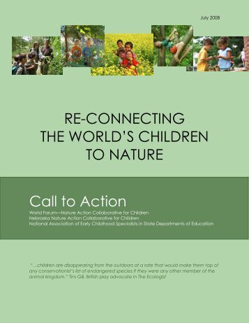 RE-CONNECTING THE WORLD'S CHILDREN TO NATURE Call to ...