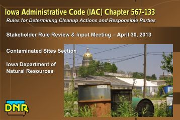What is Chapter 133? - Iowa Department of Natural Resources