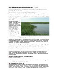 Wetland Restoration Non-Floodplain (CP23 A) - Iowa Department of ...
