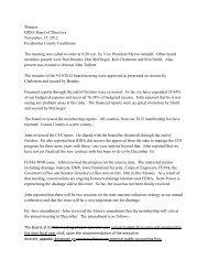 Minutes IDDA Board of Directors November, 15, 2012 Pocahontas ...