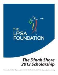 Dinah Shore Scholarship Application - LPGA Foundation