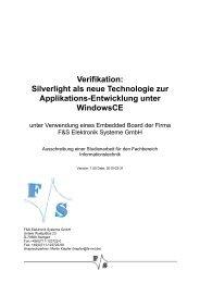 Silverlight als neue Technologie zur Applikations-Entwicklung unter ...