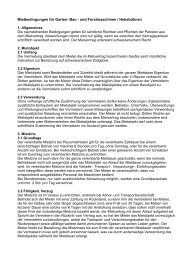 Mietbedingungen für Garten- Bau - und Forstmaschinen ...