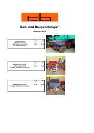 Rad- und Raupendumper