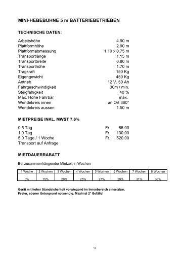 SCHERENHEBEBÜHNE 12.00 m