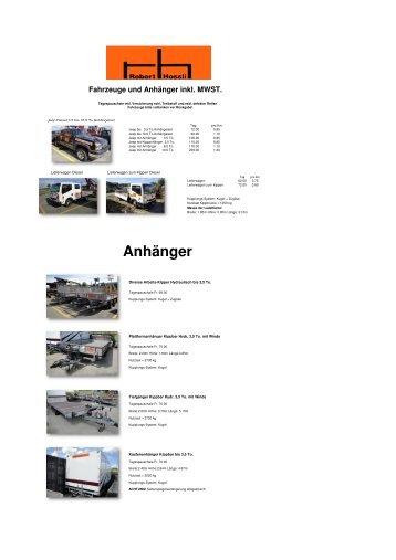 Fahrzeuge und Anhänger