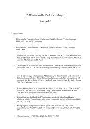 Publikationen Dr. Paul Katzenberger (Auswahl)